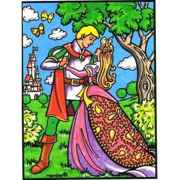 coloriage la princesse et son prince