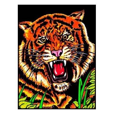 Coloriage En Velours tigre