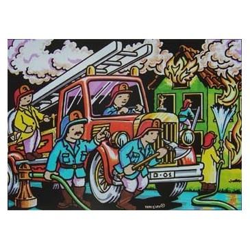 coloriage les pompiers