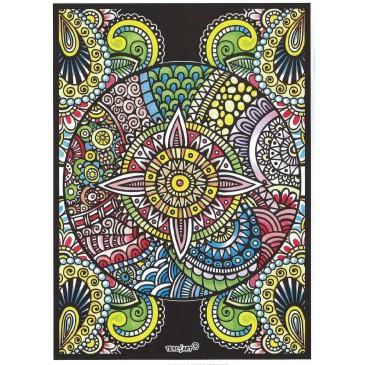 Coloriage mandala ethnique fleur