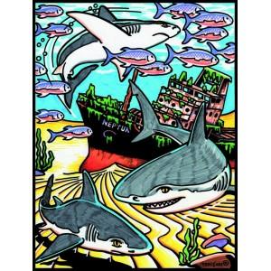 Coloriage en velours requin