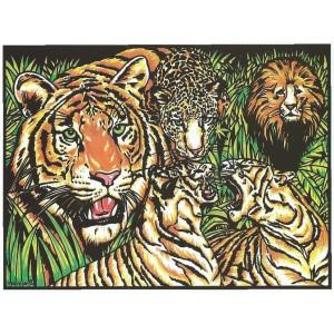 COLORIAGE LES LIONS