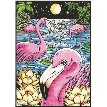 coloriage flamant rose