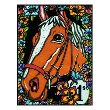 Coloriage en velours cheval