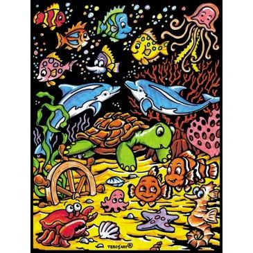coloriage les petits poissons